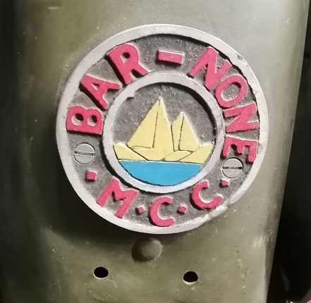 Badge on rear mudguard